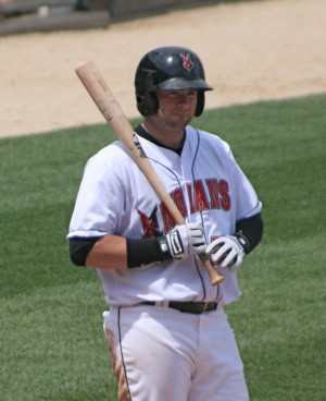 Matt Hague drove in the first Tribe run.