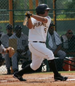 The strongly-built Jin De-Jhang was robbed of two hits on sharp grounders after his homer.