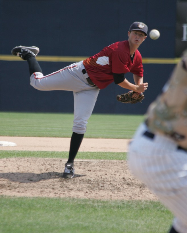 Townsend pitched 4.1 shutout innings in his Double-A debut.