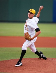 The Pirates eventually got nothing in return for Kyle Kaminska. Image Credit: Bradenton Marauders.