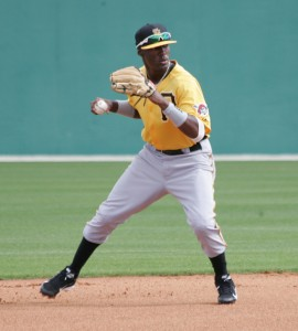 The big question surrounding Alen Hanson is whether he can stick at shortstop.