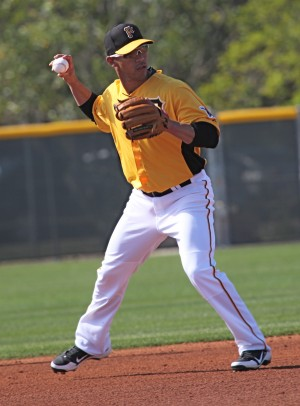 De Jesus reached base three times in his debut