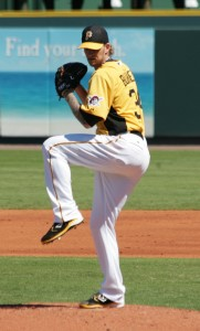A.J. Burnett during Spring Training