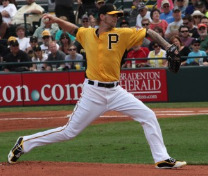 A.J. Burnett struggled with his control tonight, leading to more innings from the bullpen.