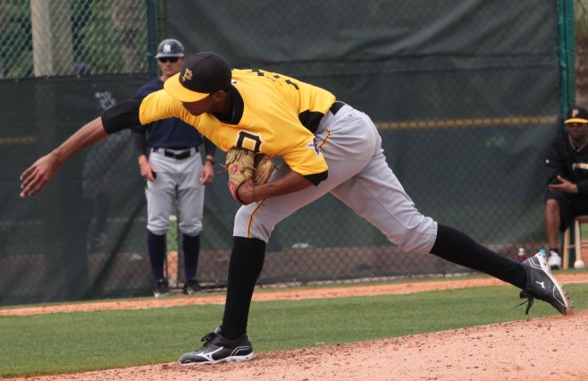 Adrian Grullon is a tall, projectable right hander, and a sleeper pitching prospect in the GCL this year.