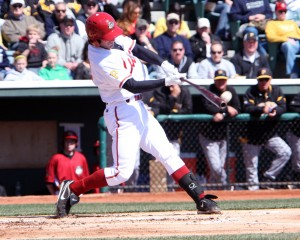Jarek Cunningham hit his 19th homer of the year. Photo Credit: David Hague