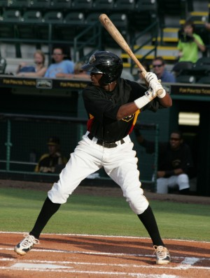 Hanson had four hits in tonight's doubleheader