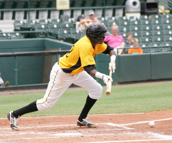 Alen Hanson is the top shortstop prospect in the Pirates' system.