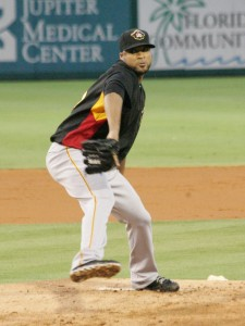Francisco Liriano looked sharp in all three innings tonight.