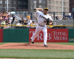 Jeanmar Gomez is one of 10 starting pitchers the Pirates have used this year. Photo Credit: David Hague