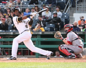 Starling Marte batting