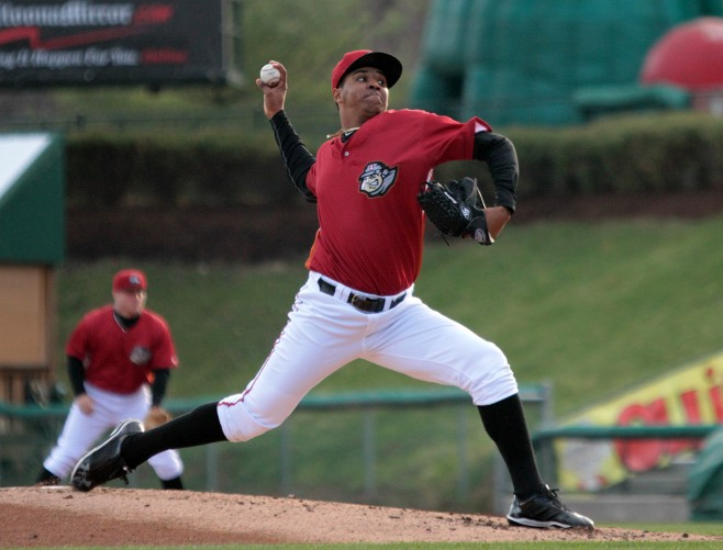 Stolmy Pimentel threw eight shutout innings the last time he faced Louisville Photo Credit: Mark Olson