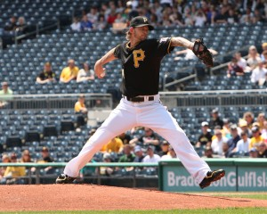 A.J. Burnett pitching for the Pittsburgh Pirates