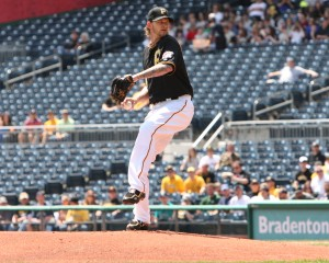 The Pirates couldn't beat the Brewers with A.J. Burnett taking on the struggling Marco Estrada. Photo Credit: David Hague