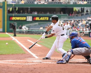 Pedro Alvarez is crushing right-handers, but struggles against lefties. (Photo Credit: David Hague)