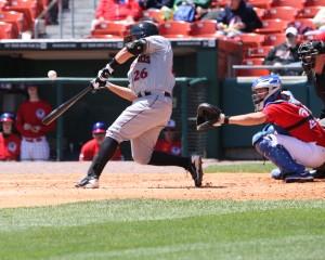 Tony Sanchez hit his eighth homer of the year. (Photo Credit: David Hague)