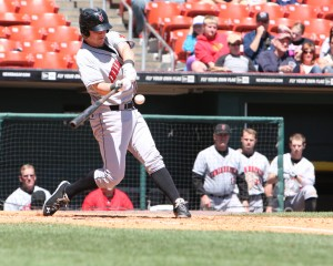 Jerry Sands has been placed on the Triple-A disabled list. (Photo Credit: David Hague)