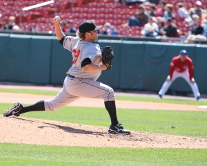 Mike Zagurski has been added to the 40-man roster. Photo Credit: David Hague