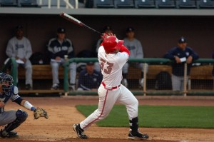 D.J. Peterson is projected to go 11th overall to the Mets. Photo Credit: David Benyak