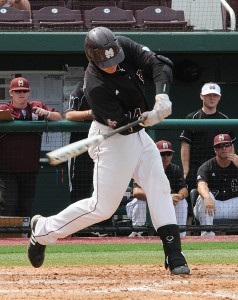 Hunter Renfroe couldn't help his team today in a loss to Central Arkansas  Image Courtesy: Mississippi State Athletics