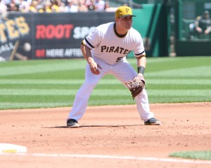 The struggles against left-handers are so bad that the Pirates have their starting catcher moving to other positions. Photo Credit: David Hague