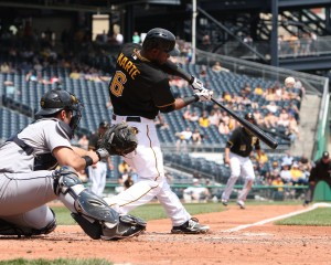 Anthony Rizzo's extension is a good guide for Starling Marte. Photo Credit: David Hague