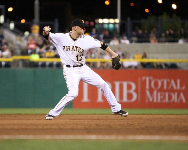The Pirates didn't collapse when Clint Barmes was removed as the starting shortstop. (Photo by: David Hague)