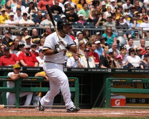 Pedro Alvarez's 15 home runs are tied for fifth in the NL. (Photo by: David Hague)