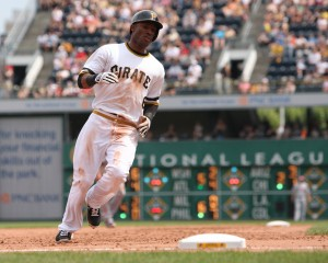 Starling Marte is making progress in his return to active duty. (Photo by: David Hague)