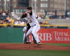 Having a top of the rotation of league minimum guys like Gerrit Cole will give the Pirates plenty to spend. (Photo Credit: David Hague)