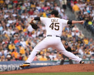 Gerrit Cole was good today, but Jose Fernandez was better. (Photo Credit: David Hague)