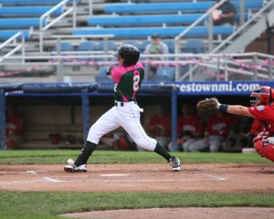 Jeff Roy had a big day reaching base four times and being selected for the NYLP All-Star game (Photo Credit: David Hague)
