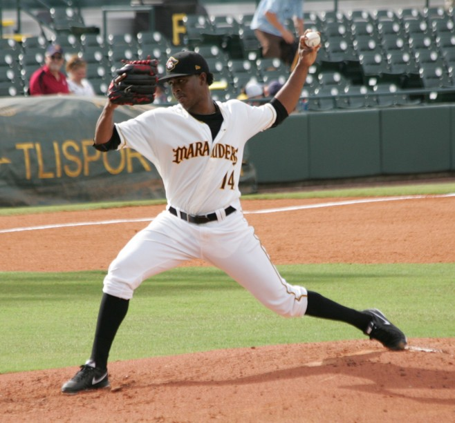 Joely Rodriguez gave up two runs over six innings in his debut