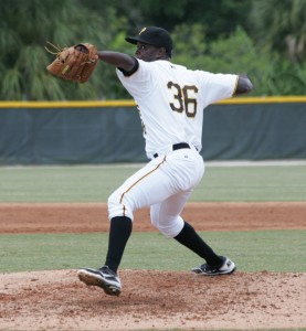 """Oderman Rocha was on the """"Players to Watch"""" list last year, and has pitched as high as high-A this year, showing strong velocity at every level."""