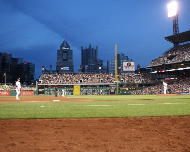 PNC Park wasn't packed tonight. (Photo by: David Hague)