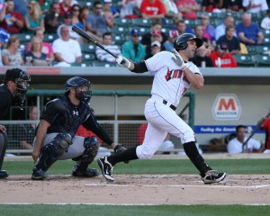 Andrew Lambo hit his 27th homer of the year tonight. (Photo Credit: David Hague)