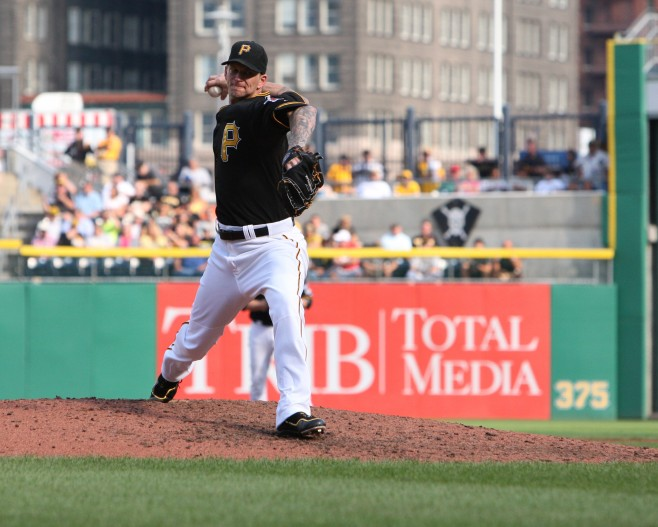 A.J. Burnett still seems to be deciding between retiring and returning to the Pirates. (Photo Credit: David Hague)