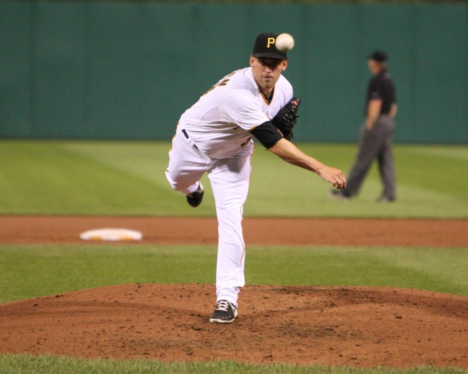 Brandon Cumpton threw six shutout innings in his debut (Photo Credit: David Hague)
