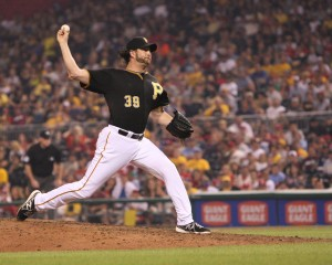 Jason Grilli returned to the closer role tonight. (Photo Credit: David Hague)