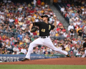 Is Jeff Locke's lack of regression due to the infield shifts? (Photo Credit: David Hague)