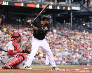 Jose Tabata or Travis Snider would be the best bet for the Pirates to have a good bat off the bench. (Photo Credit: David Hague)