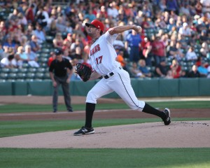 Kris Johnson is the Pirates Prospects Pitcher of the Month for the second month in a row. (Photo Credit: David Hague)