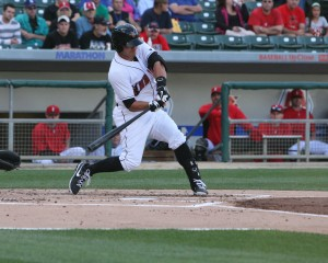Tony Sanchez will start the 2014 season in Triple-A. (Photo Credit: David Hague)