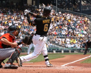 Marte hit his first homer of Winter ball (Photo Credit: David Hague)