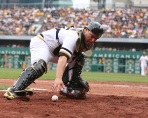 The Pirates went above market price to spend on Russell Martin last year. (Photo Credit: David Hague)