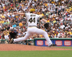 Tony Watson has been one of the best relievers in baseball in the second half. (Photo credit: David Hague)