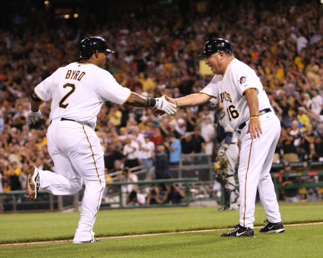 Marlon Byrd Pittsburgh Pirates Home Run