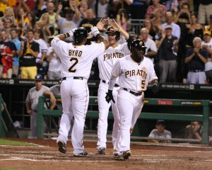 The Pirates are loading up the Wild Card roster with position players. (Photo Credit: David Hague)
