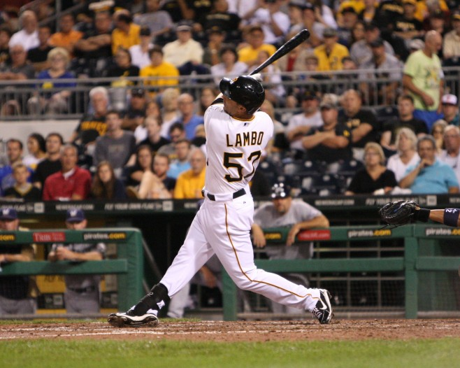 Andrew Lambo hit 32 homers in the upper levels of the minors last year. (Photo Credit: David Hague)