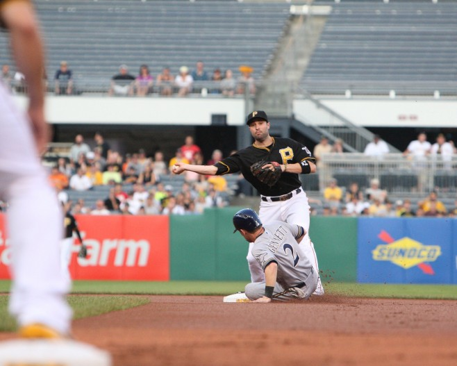 Neil Walker was above average offensively at second base, with below average defense. (Photo Credit: David Hague)